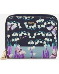 Furla - Babylon Small Zip Around Purse - Lyst