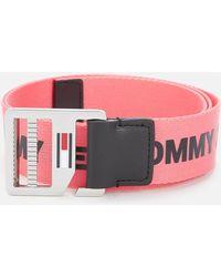 Tommy Hilfiger Webbing Belt - Pink