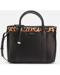 Radley Maples Place Faux Leopard Medium Ziptop Multiway Bag - Black