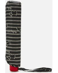 Radley Stripe Umbrella - Black