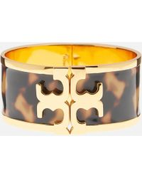 Tory Burch - Raised Logo Printed Wide Cuff - Lyst