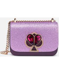 Kate Spade Nicola Glitter Twistlock Bag - Purple