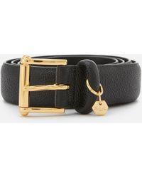 Lauren by Ralph Lauren - Endbar Embossed Leather Belt - Lyst