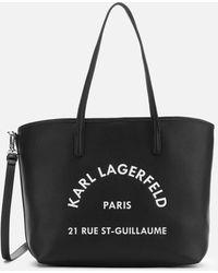 Karl Lagerfeld Rue St Guillaume Tote Bag - Black