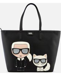 Karl Lagerfeld K/ikonik Shopper Bag - Black