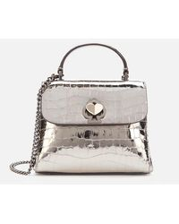 Kate Spade Romy Metallic Croc Mini Top Handle Bag