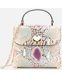 Kate Spade Romy Snake-embossed Mini Top Handle Satchel Bag - Multicolour
