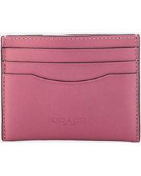 COACH - Flat Card Case - Lyst