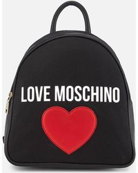 Love Moschino - Canvas Heart Logo Backpack - Lyst