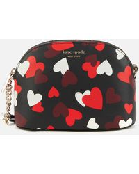 Kate Spade Spencer Hearts Dome Cross Body Bag - Red