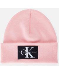 Calvin Klein Beanie Institutional - Pink