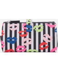 Lulu Guinness - Stripe Lip Blot Double Make Up Bag - Lyst