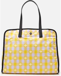 Kate Spade Nicola Bicolor Extra Large Tote Bag - Yellow