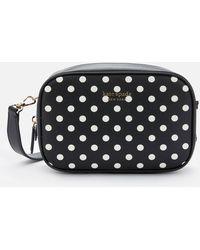 Kate Spade Minnie Mouse/lady Dot Medium Camera Bag - Black