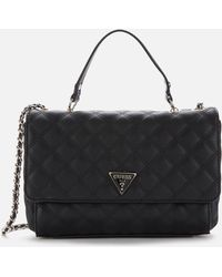 Guess Cessily Convertible Cross Body Bag - Black