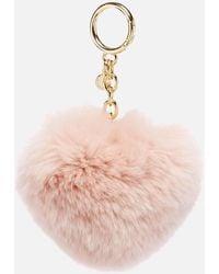 MICHAEL Michael Kors Pom Pom Heart Key Ring - Pink