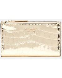 Kate Spade Sylvia Croc Small Wallet - Metallic