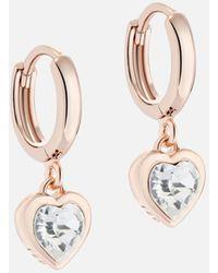Ted Baker Hanniy: Crystal Heart Earrings - Metallic