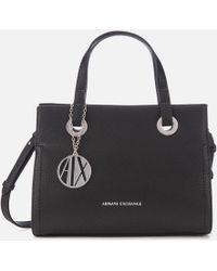 Armani Exchange - Small Shopper With Cross Body Bag - Lyst