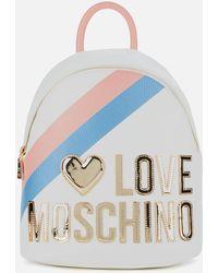 Love Moschino Logo Stripe Backpack - Multicolour