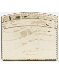 Kate Spade Sylvia Metallic Leather Card Holder