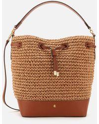 Lauren by Ralph Lauren Dryden Crochet Straw Bag - Brown