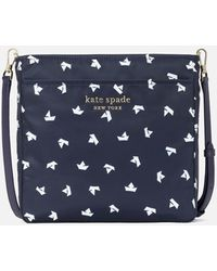 Kate Spade Daily Paper Boats Medium Swing Pack Bag - Blue
