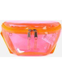 Eastpak Authentic Transparent Springer Bum Bag - Pink
