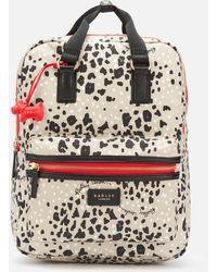 Radley Leopard Oilskin Large Ziptop Backpack - Gray
