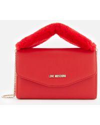 Love Moschino - Fur Handle Bag - Lyst