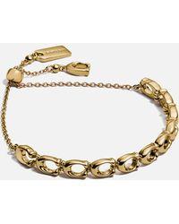 COACH C Chain Link Frienship Bracelet - Metallic
