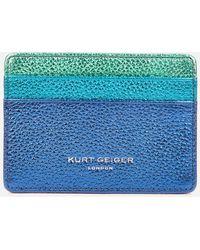 Kurt Geiger Rainbow Leather Card Holder - Blue