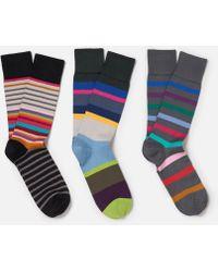 Paul Smith - Three Pack Socks - Lyst