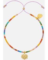 Estella Bartlett Beaded Rainbow Sun Charm Louise Bracelet - Metallic
