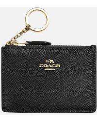 COACH Crossgrain Mini Skinny Id Wallet - Black