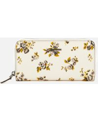 COACH - Accordion Zip Wallet In Prairie Print - Lyst