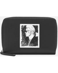 Karl Lagerfeld Karl Legend Medium Zip Wallet - Black
