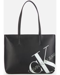 Calvin Klein Logo Shopper - Black