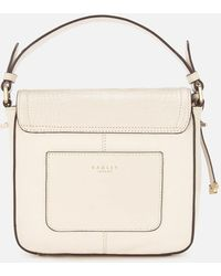Radley Dorset Street Croc Small Flapover Cross Body Bag - Natural