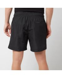 Calvin Klein Medium Double Waistband Swim Shorts - Black