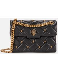 Kurt Geiger Leather Mini Kensington Stud Bag - Black