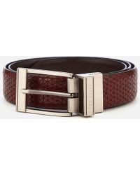 Ted Baker - Tatti Textured Reversible Belt - Lyst