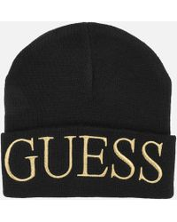Guess - Logo Beanie Hat - Lyst