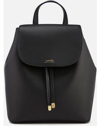 Lauren by Ralph Lauren Dryden Flap Medium Backpack - Black