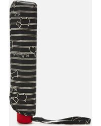 Radley Stripe Umbrella - Black