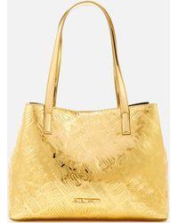Love Moschino - Metallic Embossed Small Logo Tote Bag - Lyst