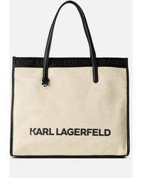 Karl Lagerfeld K/skuare Tote Bag Canvas - Black