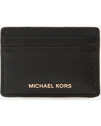 MICHAEL Michael Kors Jet Set Card Holder - Black