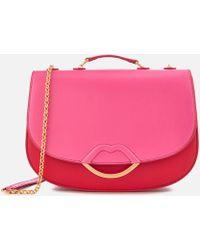 Lulu Guinness Isabella Half Covered Lip Shoulder Bag - Pink