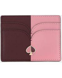 Kate Spade Nicola Bi Color Card Holder - Pink